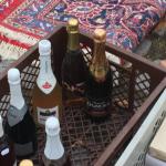 Flea market Russian Champagne